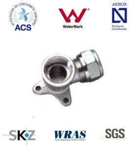 Compression Fitting - Brass Fitting - Plumbing Fitting (Wall Plated Elbow) pictures & photos