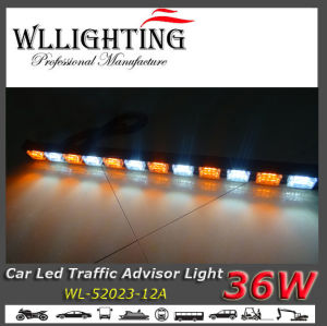 Amber/White Color LED Roof Mount Light Stick for Security Vehicles pictures & photos