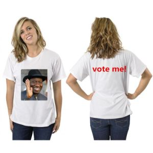 Cheap Cotton One Size Unisex White Printing Campaign T-Shirt pictures & photos