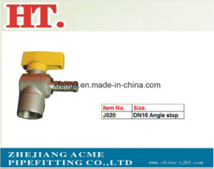 Thread 90 Degree Elbow Brass Gas Ball Valve with Steel Handle pictures & photos