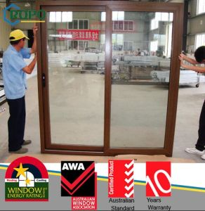 Double-Track Decorative Glazed Sliding Doors pictures & photos