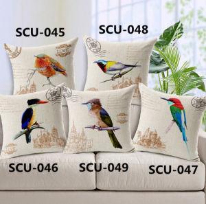 Birds Transfer Print Cushion Decorative Fashion Pillow (SCU-047) pictures & photos