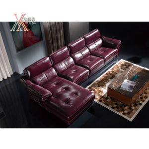 Leather Sofa with Chaise (868) pictures & photos