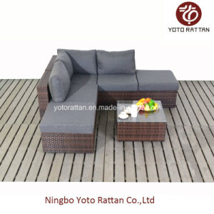 Wicker Small Corner Sofa Set for Outdoor (1201) pictures & photos