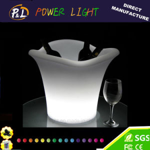 Color Changing Plastic Bar Wine Beer LED Ice Cooler pictures & photos