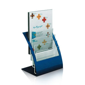 Colored Acrylic Leaflet Display Holder for A4 Size Paper pictures & photos