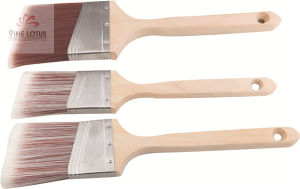 Soft Nylon Double Color Wooden Handle Paint Brush pictures & photos