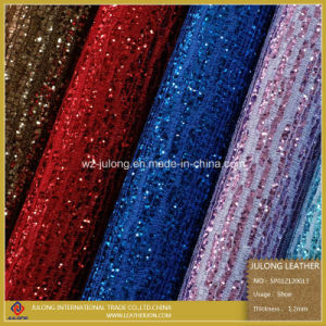 fashion Glitter Lace Leather & Glitter Leather for Shoes (SP012) pictures & photos