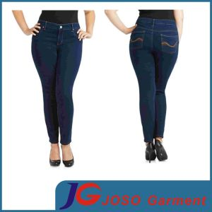 Blue Stretch Skinny Women Plus Size Jeans (JC1370) pictures & photos