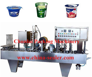 Automatic Linear Yogurt Coffee Milk Filling Sealing Machine pictures & photos