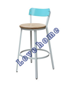 Modern Metal Dining Wooden Knock Down Bar Chair pictures & photos