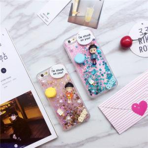 Cute Character 3D Liquid Sand Heart Quicksand TPU Case for Samsung Galaxy J1 J5 J7 pictures & photos