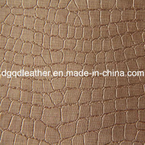 Crocodile Pattern Semi-PU Furniture Leather (QDL-51341) pictures & photos