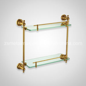 Stainless Steel Bathroom Wall Mounted Glass Shelf (BLJ002) pictures & photos