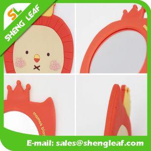 Cartoon Customized Design Rubber Makeup Mirror (SLF-RM008) pictures & photos