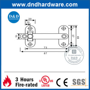 Hardware Steel Security Door Guard for Metal Doors (DDDG006) pictures & photos