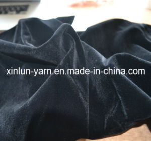 Wholesale 100%Polyester Plain Flocking Knitted Upholstery Fabric pictures & photos