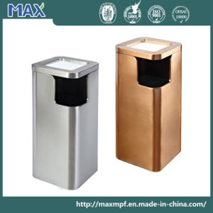 Satin Stainless Rectangle Trash Can Waste Bin pictures & photos