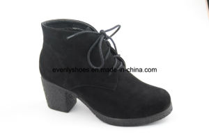Block High Heel Shoes Women Boots for Winter pictures & photos