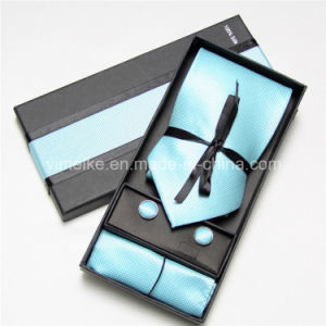 Hot-Selling 100% Silk Tie Handkerchief Cufflink Set for Men pictures & photos