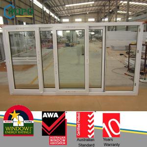 Australian Pop Design UPVC Sliding Windows with Heat Insulating Glass pictures & photos
