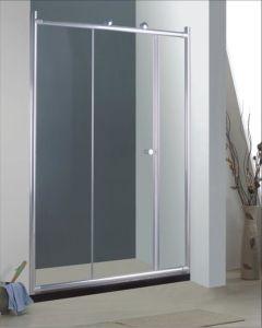 Bathroom 6mm Big Roller Single Sliding Door Shower Enclosure (BR930) pictures & photos