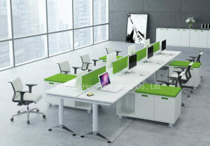 Fashion Color Office Workstation with Acrylic Partiton Screen (HF-YZH011) pictures & photos