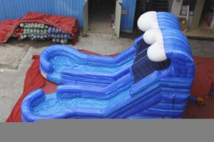 Dual Lane Inflatable Wave Water Slide Chsl663 pictures & photos