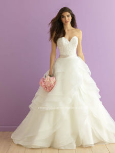 New Design Organza Ball Gown Princess Wedding Bridal Dresses pictures & photos