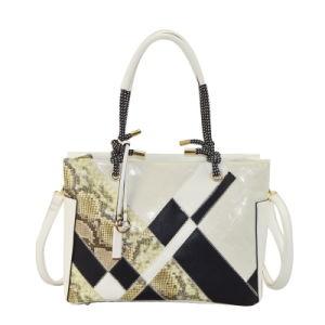Stylish Designer Contrast Color Ladies PU Handbags ZXK789 pictures & photos