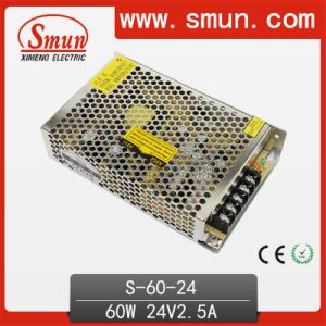 60W 24VDC 2.5A Single Output Switching Power Supply S-60-24 pictures & photos