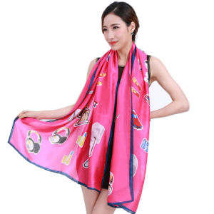 Lady Fashion Digital Printed Polyester Scarf pictures & photos
