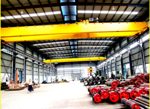 Low Price Double Girders Bridge Crane with Grab or Hook pictures & photos