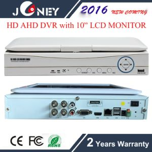 10 Inch H. 264 LCD DVR 4 Channel All-in-One Monitor Ahd DVR pictures & photos