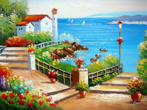Impression Sea Landscape Oil Painting for Home Decoration (LH-326000) pictures & photos
