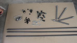 Sample Supply of CNC Machining Threaded Rod with Nut pictures & photos