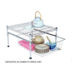 DIY Chrome Metal Mini Kitchen Wire Shelf Rack (LD452045C2C) pictures & photos