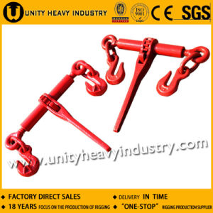 Ratchet Type Load Binder with Safety Latch for Cargo Lashing