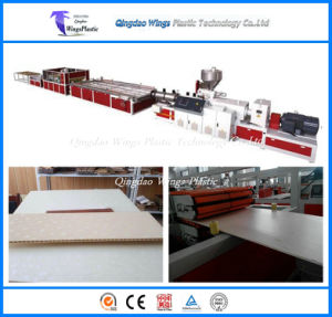 WPC Waterproof Eco-Friendly Texture Interior Decorative Wall Panels Making Machine / Extrusion Line pictures & photos