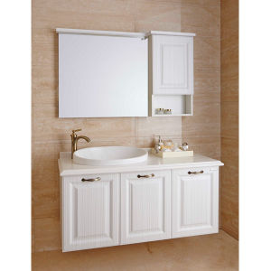 oppein european style pvc white bathroom cabinets