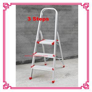 Aluminum Household Ladder with 3step CE/En131 pictures & photos