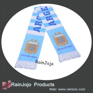 High Quality Knitted Argentina Football Fans Scarf pictures & photos