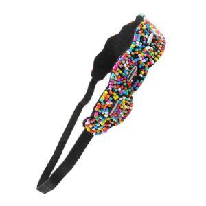 Fashion Retro Style Handmade Women Hairbands Multicolor Beads Headband Elastic Hair Band Wavy Configuration Rhinestone Hairwear pictures & photos