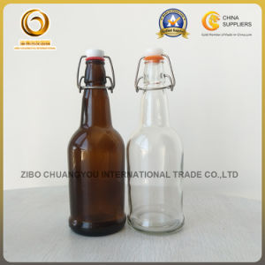 16oz Amber Glass Beer Bottle with Ceramic Swing Cap (584) pictures & photos