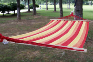 Outdoor Hammock with Polyester Cotton Canvas