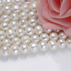 11-12mm Large Hot Sale Natural Real Freshwater Pearl Necklace Strand pictures & photos