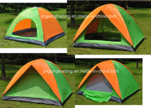 Practical Double-Skin Polyester Camp Tent for 2-4 Persons (JX-CT020-2) pictures & photos