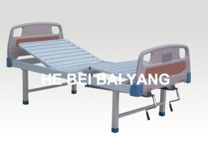 (A-108) Double-Function Manual Hospital Bed with ABS Bed Head