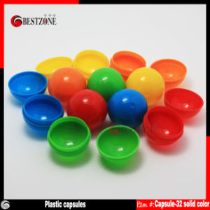 Plastic Ball Capsule Decoration Gift for Candy, Toys, 32mm Diameter Plastic Capsule Promotion Gift pictures & photos