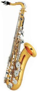 Gold Lacquer Tenor Saxophone with Nickel Plated Keys